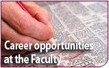 Career opportunities at the Faculty